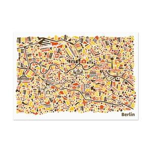Nástěnná mapa Berlín, 100x70 cm