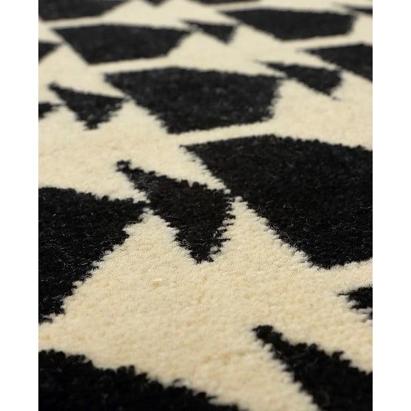 Vlněný koberec Oslo no.1, 140x200 cm, černý