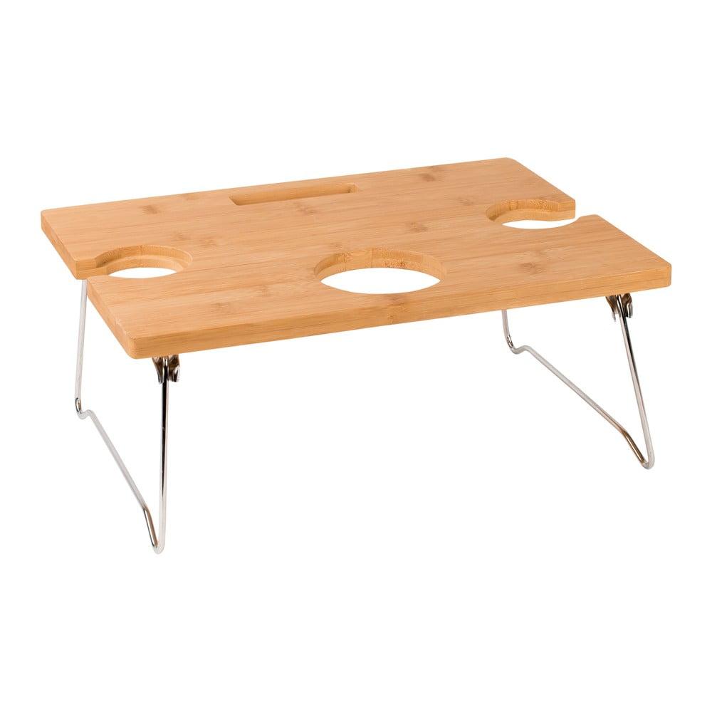 Přenosný bambusový stolek na víno Navigate Summerhouse ,38 cm x 17 cm x 28 cm