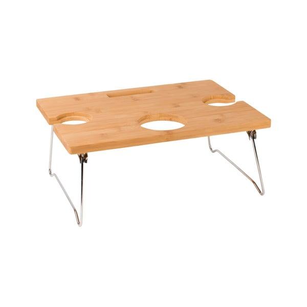 Summerhouse bambusz hordozható asztal borozáshoz ,38 cm x 17 cm x 28 cm - Navigate