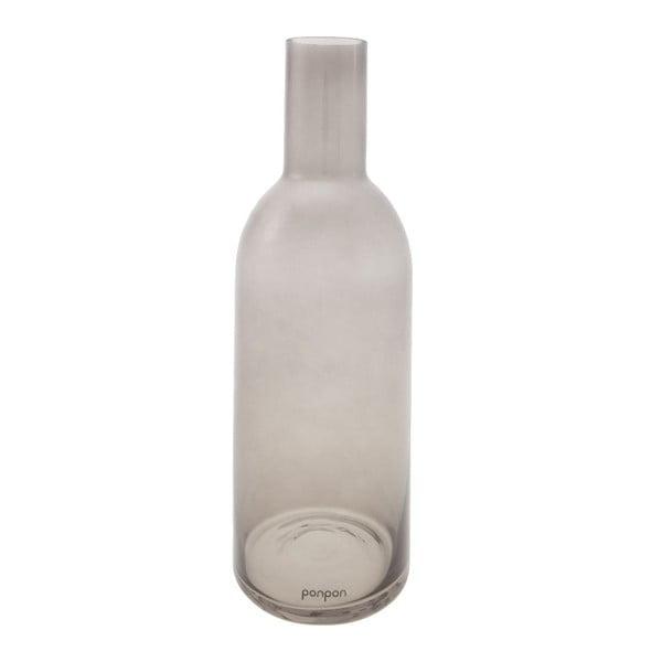 Váza/svícen Bottle 30,5 cm, šedá