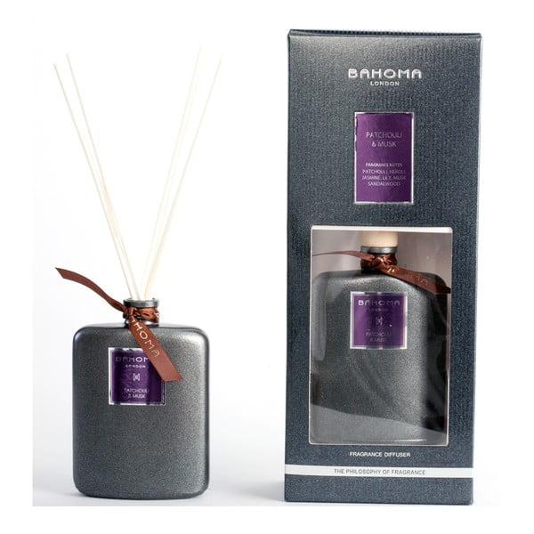 Difuzér s vůní pačuli a pižma Bahoma London, 100 ml