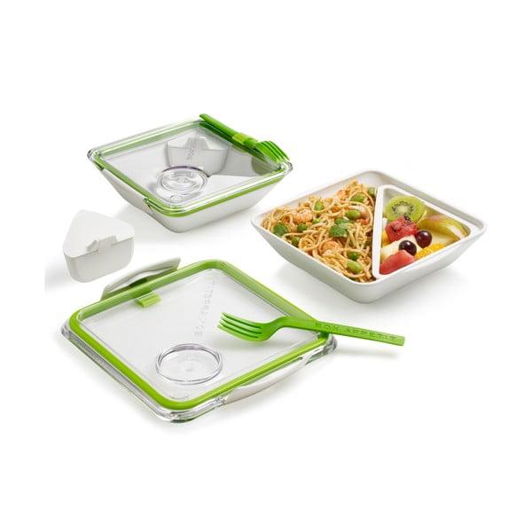 Apetit zöld-fehér ételtartó doboz, 880 ml - Black + Blum