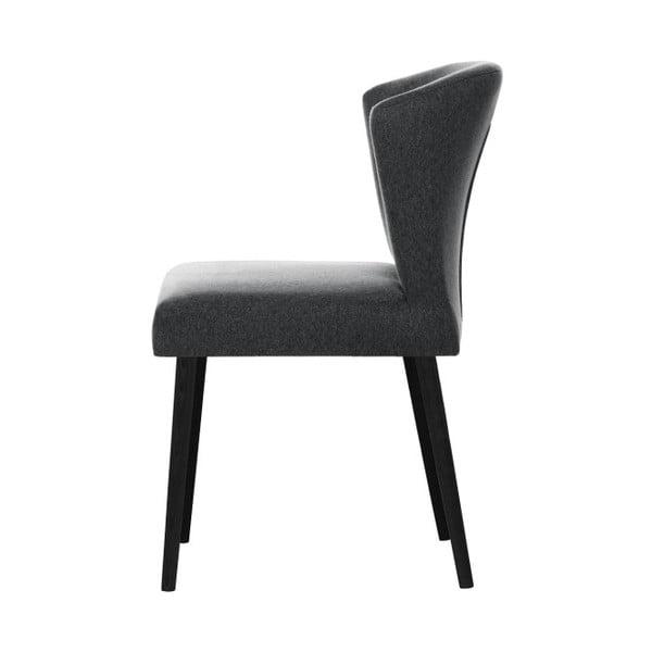 Tmavě šedá jídelní židle s černými nohami My Pop Design Richter