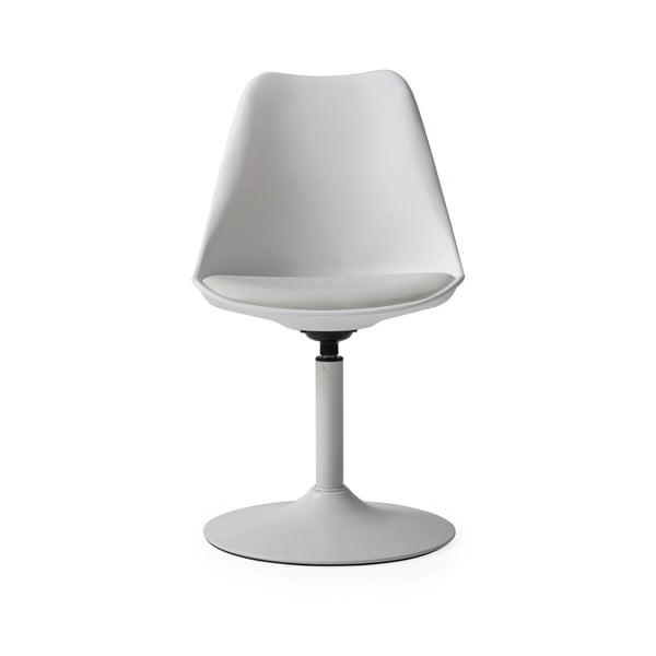Bílá jídelní židle s šedým podsedákem Tenzo Viva