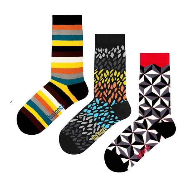 Zestaw 3 par skarpetek Ballonet Socks Autumn w opakowaniu podarunkowym, rozmiar 36 - 40