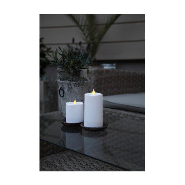 Bílá LED svíčka Best Season Glim, výška 13,5 cm