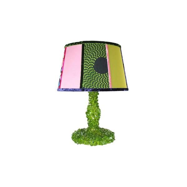 Stolní lampa Crystal Green Grasshopper