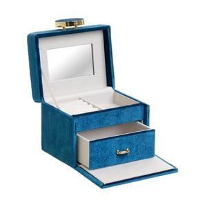 Dekorativní modrá šperkovnice InArt Velvet