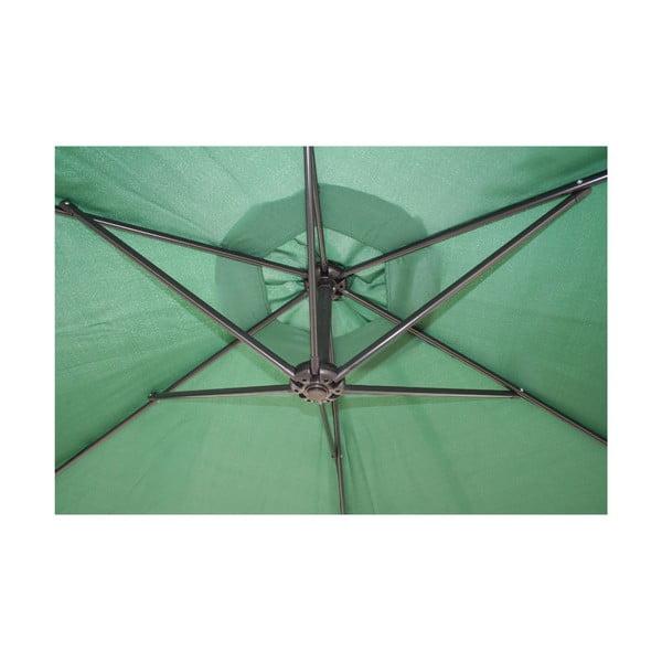 Slunečník Vetro 300 cm, tmavě zelený