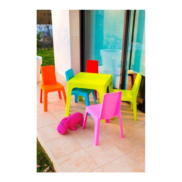 Růžový dětský zahradní set 1 stolu a 2 židliček Resol Julieta