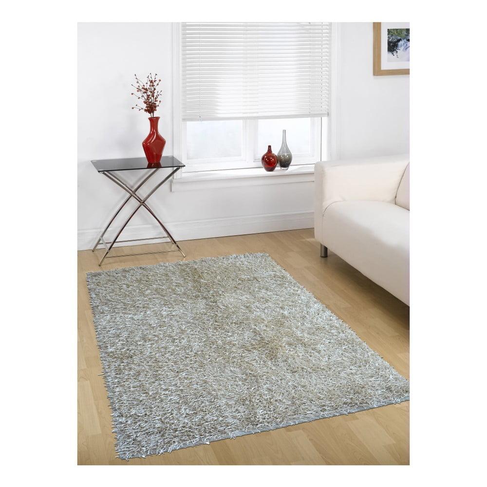 Šedo-béžový koberec Webtappeti Shaggy, 140 x 200 cm