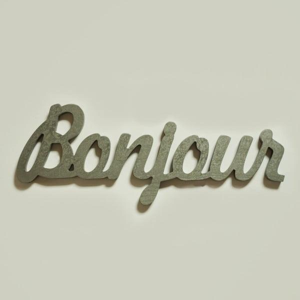 Dekorativní nápis Bonjour, stříbrný
