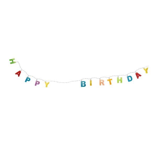 Nástěnná světelná girlanda LeStudio Happy Birthday, délka 188 cm