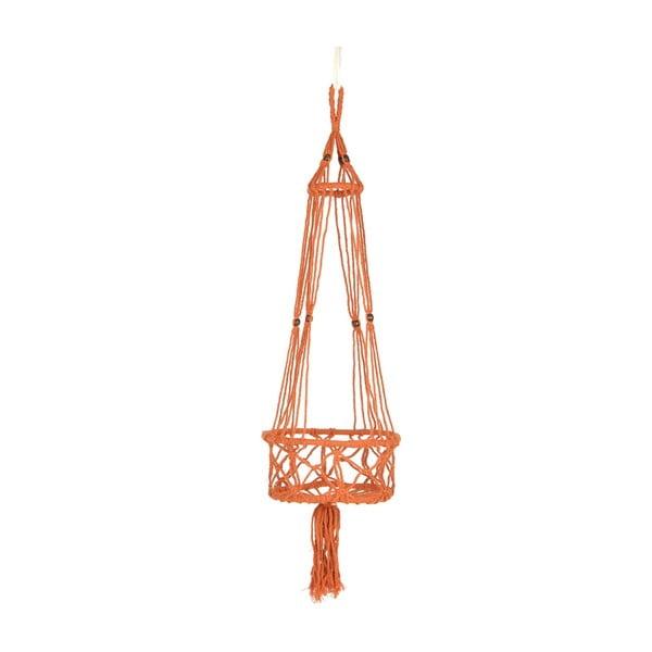 Závěsný držák na květináč Macrame Naranja, 25 cm