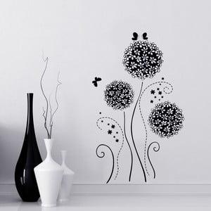 Samolepka na stěnu Flower Ball Black, 60x90 cm