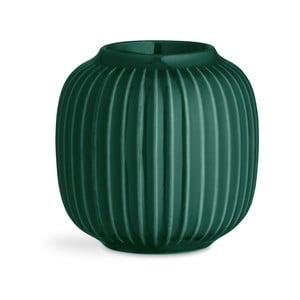 Zelený porcelánový svícen na čajové svíčky Kähler Design Hammershoi, ⌀ 9 cm