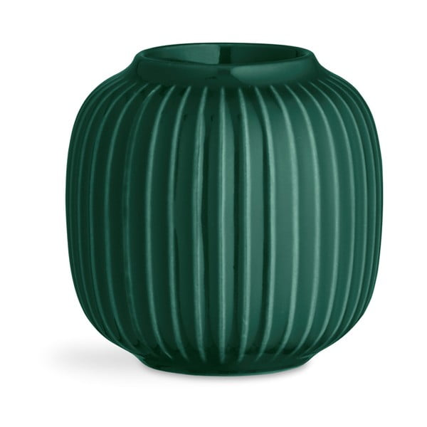 Hammershoi zöld porcelán gyertyatartó teamécseshez, ⌀ 9 cm - Kähler Design