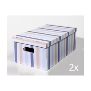 Set 2 cutii pentru depozitare Compactor Purp, mov