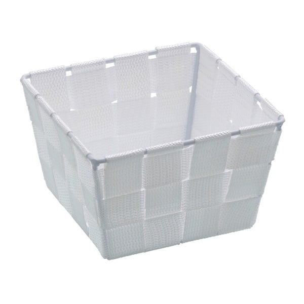 Bílý úložný košík Wenko Adria, 14 x 14 cm