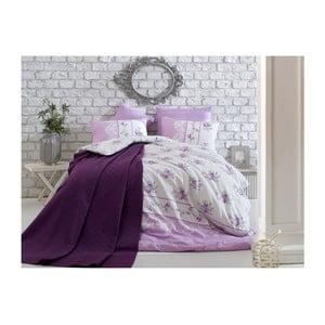 Lenjerie de pat cu cearșaf Sasha Akaska, 200 x 220 cm