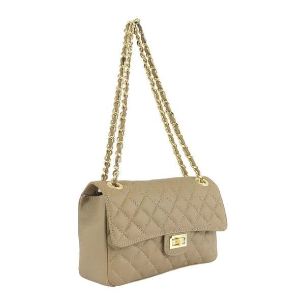 Taupe kožená kabelka Chiara