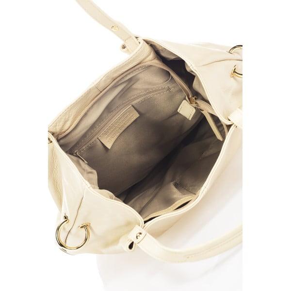 Kožená kabelka Piscila, béžová