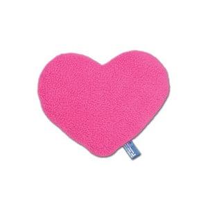 Nahřívací polštářek Srdce 12 cm, růžový