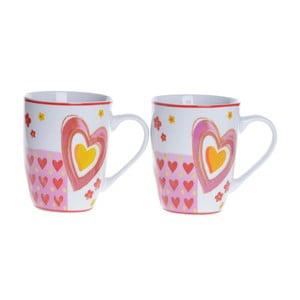 Porcelánové šálky Srdce, 2 ks