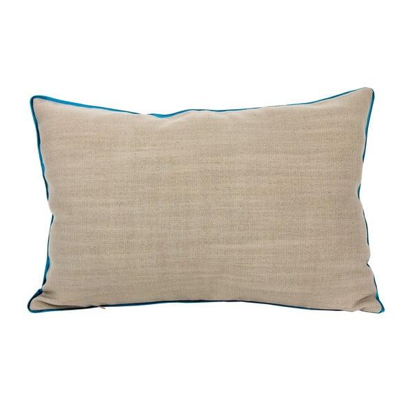 Polštář s tyrkysovým lemem 40x60 cm