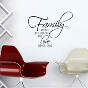 Vinylová samolepka na stěnu Rodinná láska