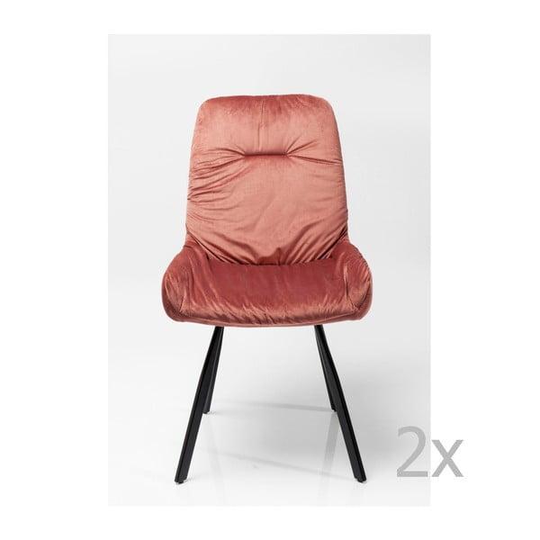 Sada 2 jídelních židlí s ocelovou konstrukcí Kare Design Berry