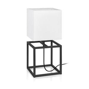 Černo-bílá stolní lampa Markslöjd Cube, 20 x 20 cm