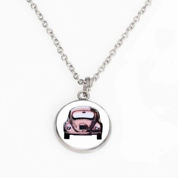 Řetízek s přívěskem Růžové autičko  od Lucie Markové