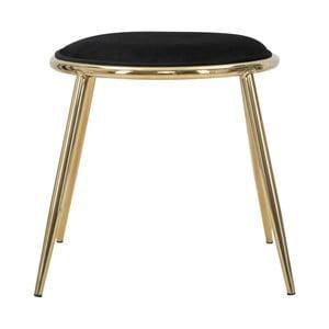 Černá stolička Mauro Ferretti Emily, ⌀ 45 cm