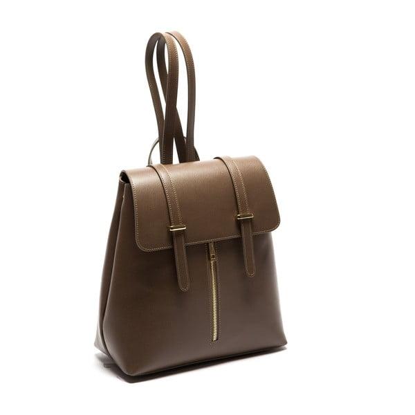 Hnědý kožený batoh Sofia Cardoni Noemi Fango