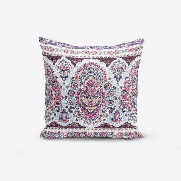 Față de pernă cu amestec din bumbac Minimalist Cushion Covers Lila Cini, 45 x 45 cm