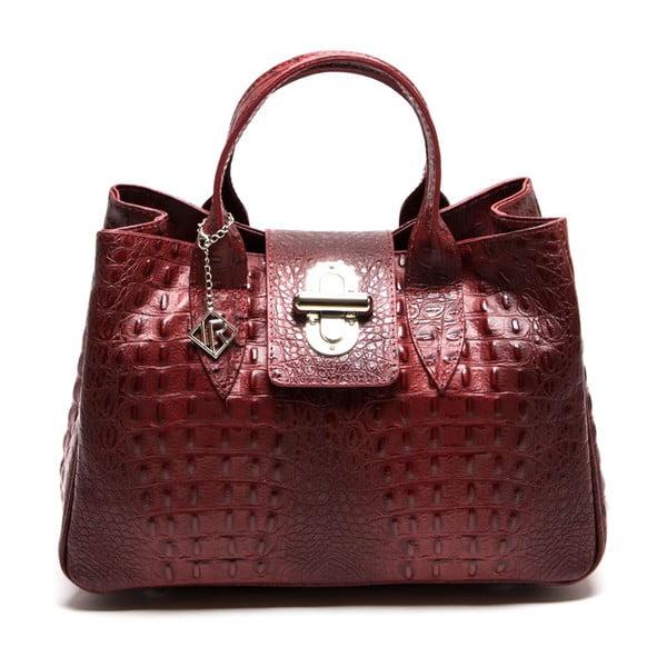 Kožená kabelka Isabella Rhea 614, červená