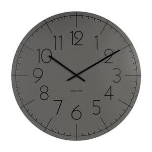 Šedé hodiny Present Time Blade Numbers XL