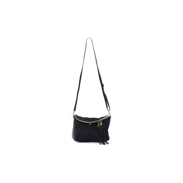 Kožená kabelka Juliette, černá
