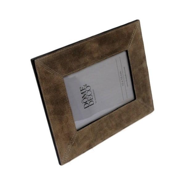 Hnědý kožený rámeček, vyšší