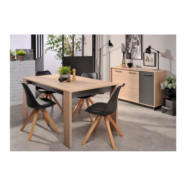 Jídelní stůl v dekoru dubového dřeva Parisot Vichy, 160x88cm