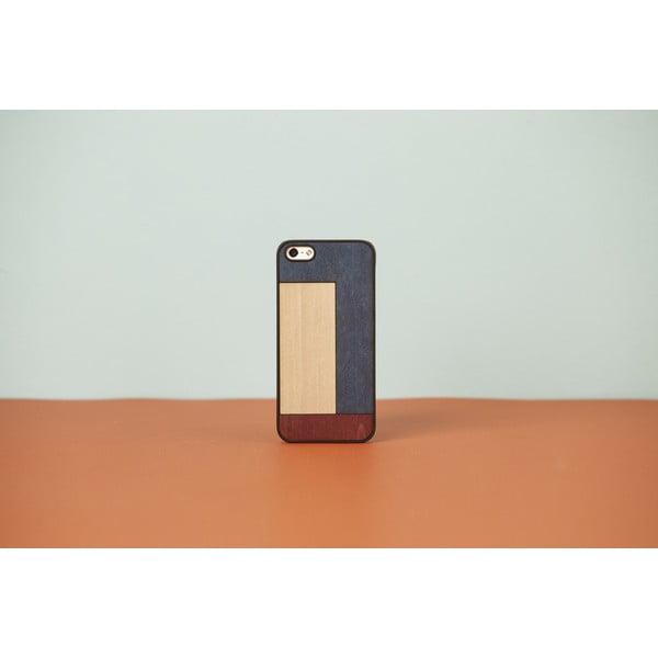 Dřevěný obal na iPhone 4 Inlays, tetris blue