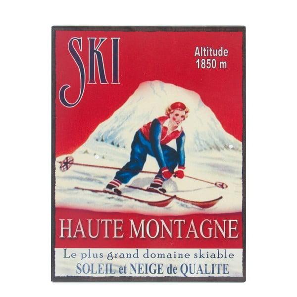 Nástěnná cedule Antic Line Ski,25x33cm