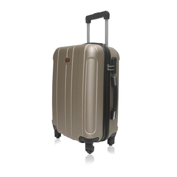 Cestovní kufr ve zlaté barvě na kolečkách Hero Fogo, 36 l