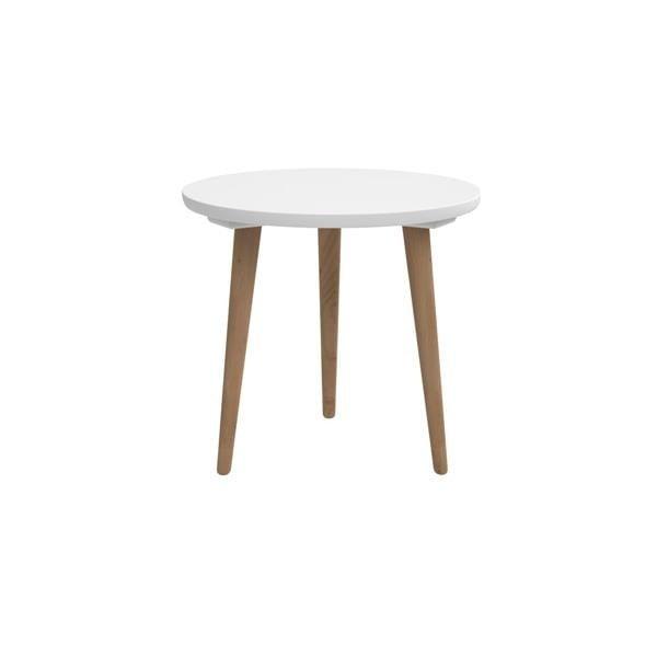Bílý stůl D2 Bergen, 45 cm