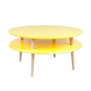 Žlutý konferenční stolek Ragaba UFO,⌀70cm