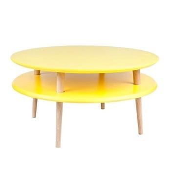 Măsuță de cafea Ragaba UFO Ø 70 cm, galben de la Ragaba