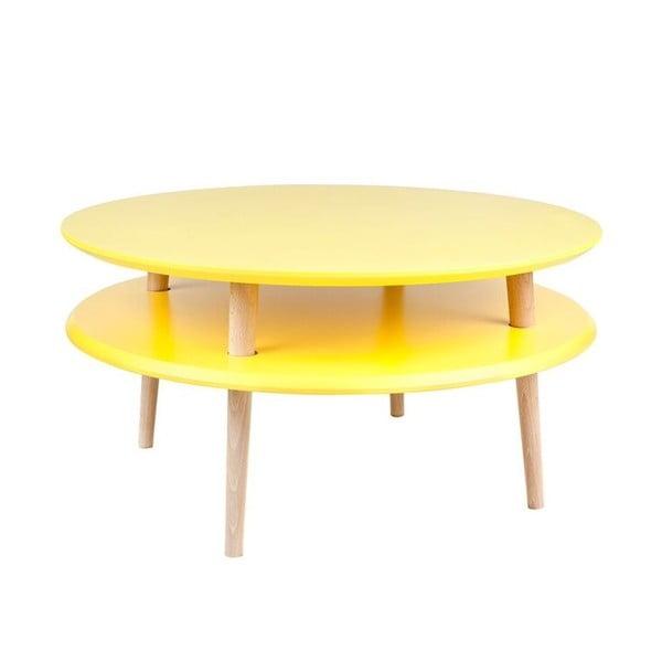 UFO sárga dohányzóasztal, ⌀ 70 cm - Ragaba