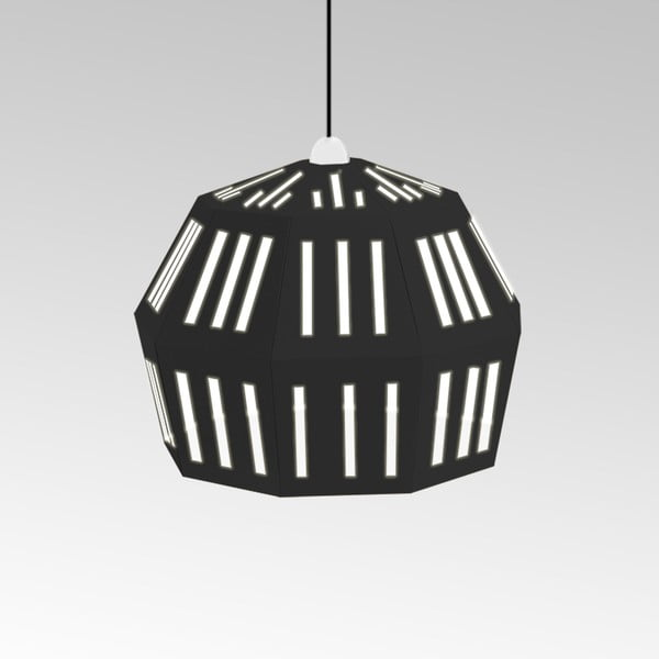 Kartonové svítidlo Uno Fantasia C Black, s černým kabelem